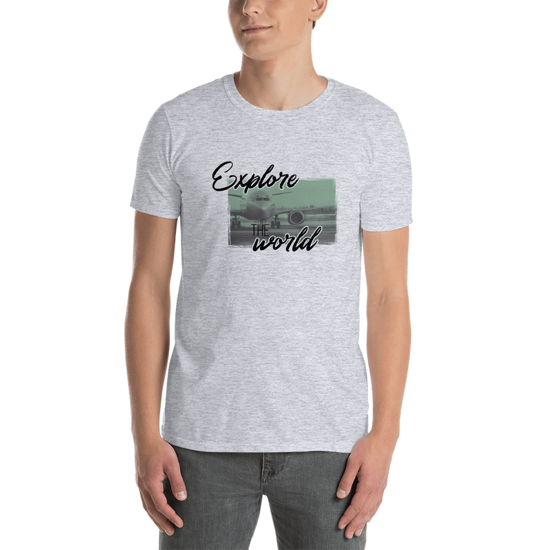 Explore The World0013 Gildan 64000 Unisex Softstyle T-Shirt with Tear Away Label - libitalux