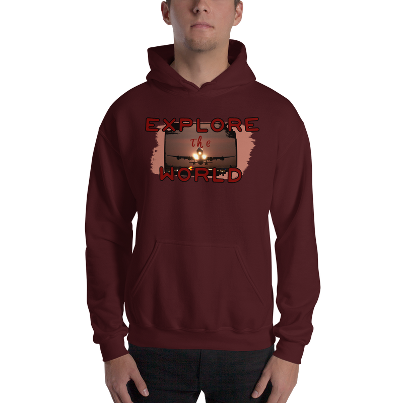 Explore The World0014 Hoodie  Gildan 18500 Unisex Heavy Blend Hooded Sweatshirt