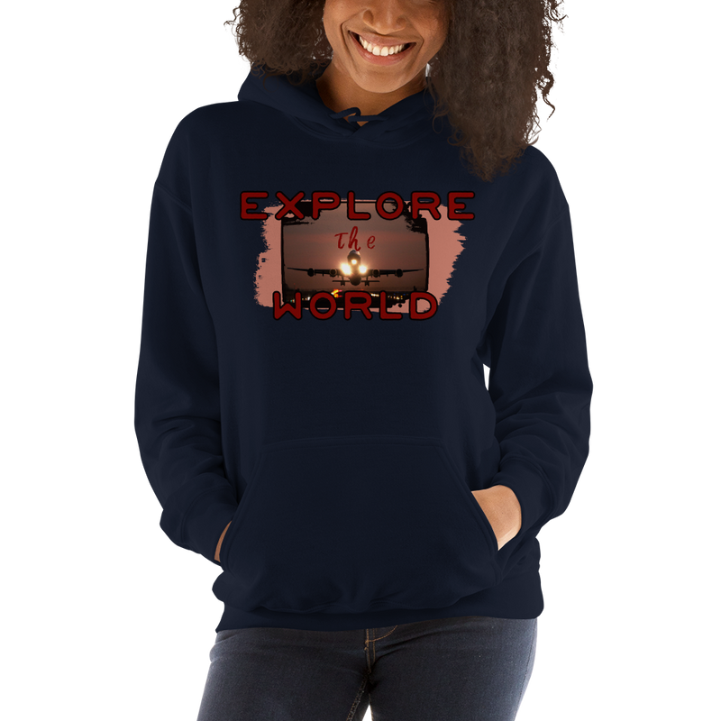 Explore The World0014 Gildan 18500 Unisex Heavy Blend Hooded Sweatshirt