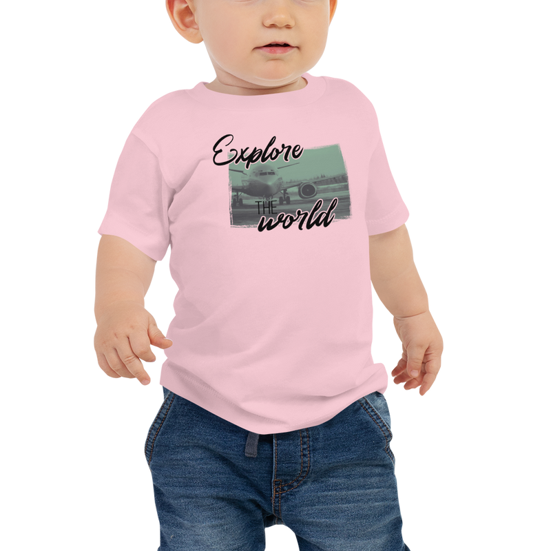 Explore The World0013 Bella + Canvas 3001B Baby Jersey Short Sleeve Tee with Tear Away Label