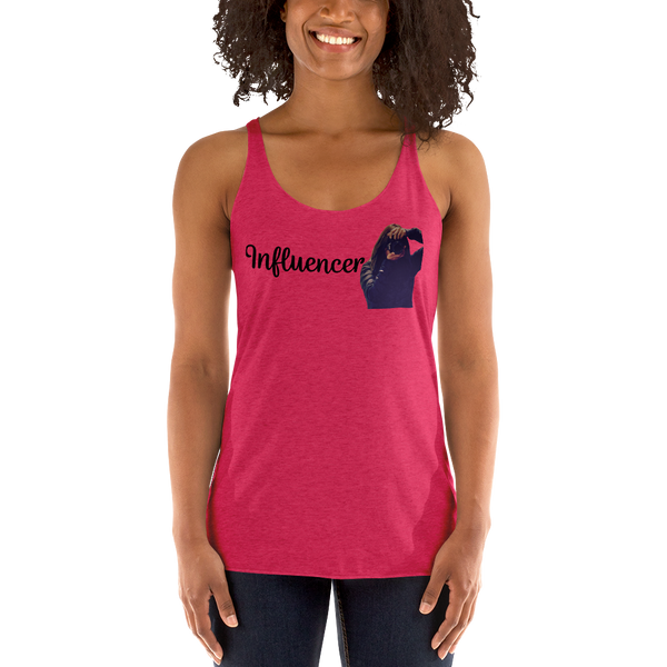 Influencer074 Next Level 6733 Ladies' Triblend Racerback Tank Triblend Racerback Tank