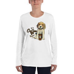 Its Coffee Time016 Ladies' Long Sleeve T-Shirt