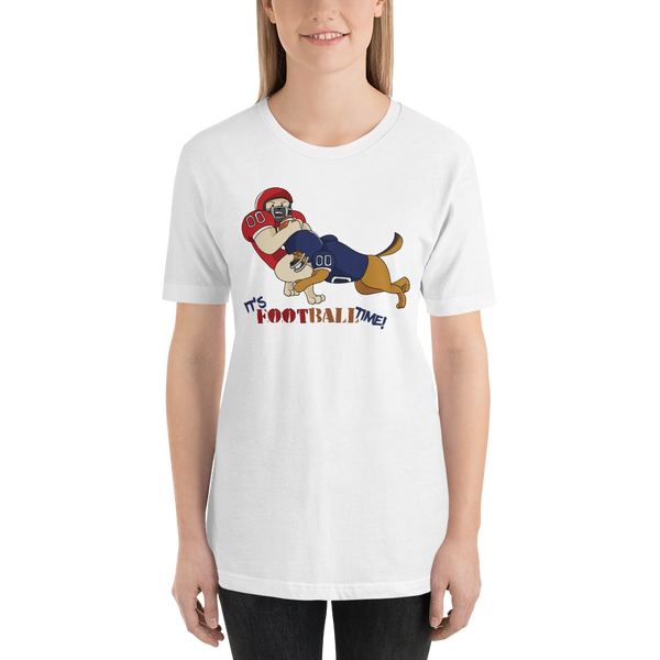 It's football time22 Bella + canvas 3001 unisex Jersey Style