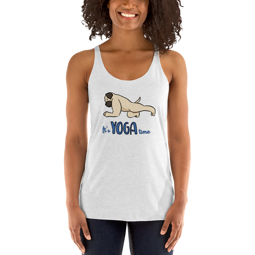 It's Yoga Time013 Next Level 6733 Ladies' Triblend Racerback Tank