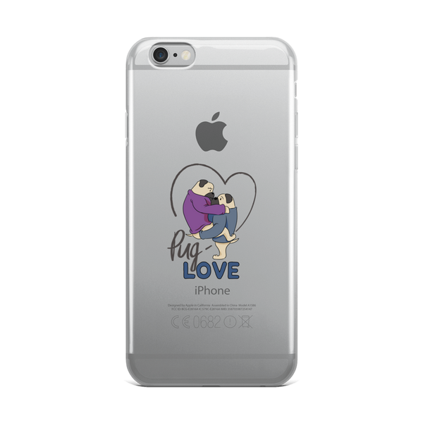 Pug Love13 iPhone Case