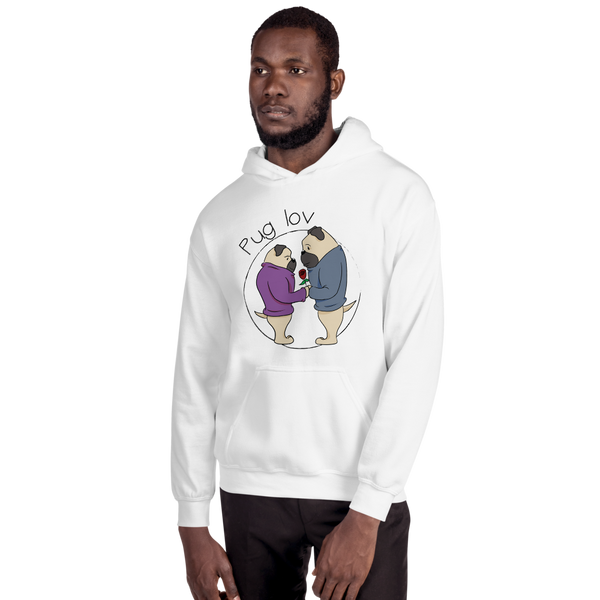 Pug Love06 Gildan 18500 Unisex Heavy Blend Hooded Sweatshirt