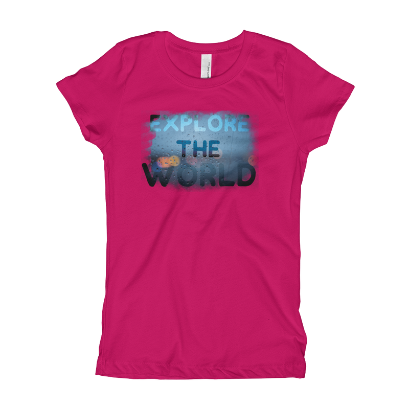 Explore The World0028 Next Level 3710 Girl's The Princess Tee with Tear Away Label