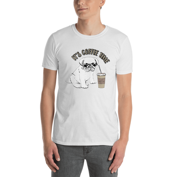 It's coffee time059 Gildan 64000 Unisex Softstyle T-Shirt with Tear Away Label