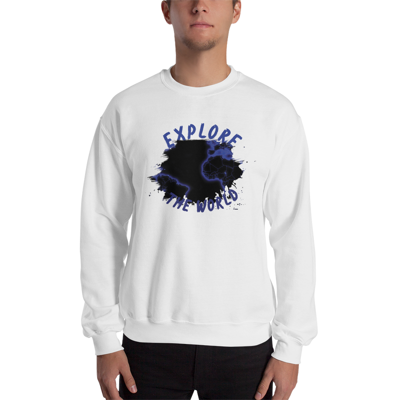 Explore The World0010 Sweatshirt Gildan 18000 Unisex Heavy Blend Crewneck Sweatshirt