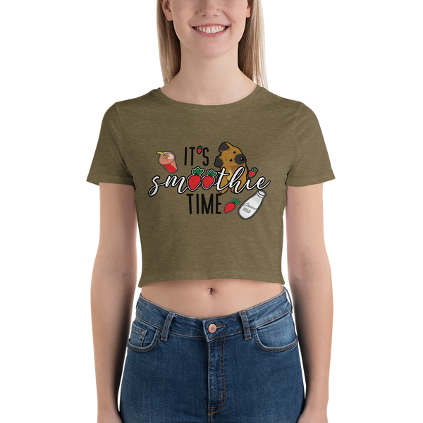It's smoothie time07 Bella + Canvas 6681 Women's Crop Tee Tight fit