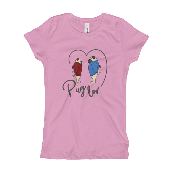 Pug Luv05 Girl's T-Shirt