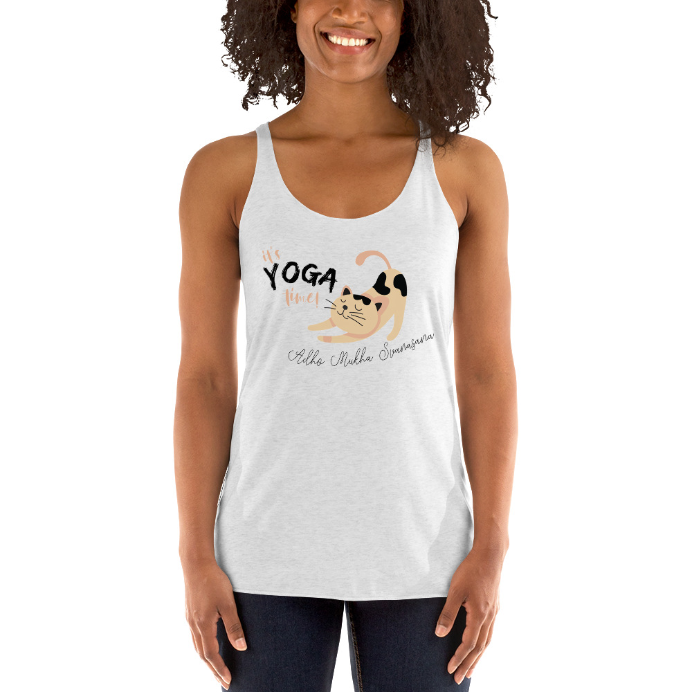 It's Yoga Time011 Next Level 6733 Ladies' Triblend Racerback Tank
