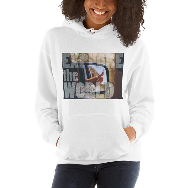 Explore The World0021 Gildan 18500 Unisex Heavy Blend Hooded Sweatshirt