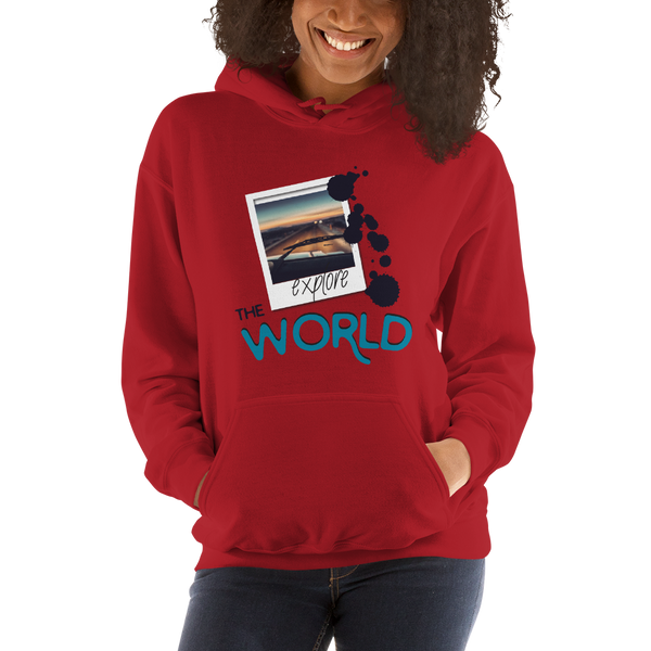 Explore The World0025 Gildan 18500 Unisex Heavy Blend Hooded Sweatshirt