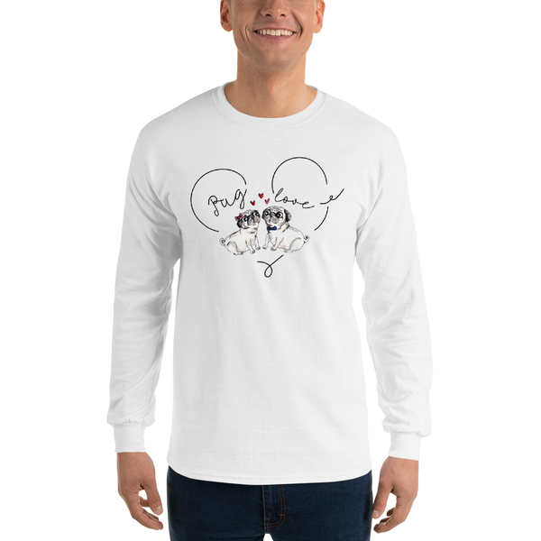 Pug Love03 Gildan 2400 Ultra Cotton Long Sleeve T-Shirt