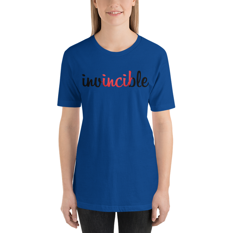 Invincible017 Bella + Canvas 3001 Unisex Short Sleeve Jersey T-Shirt with Tear Away Label
