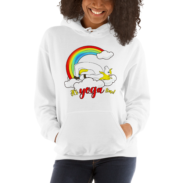 It's Yoga Time004 Gildan 18500 Unisex Heavy Blend Hooded Sweatshirt Heavy blend
