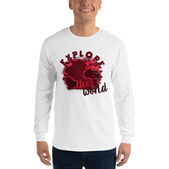 Explore The world0016 Long Sleeve Gildan 2400 Ultra Cotton Long Sleeve T-Shirt