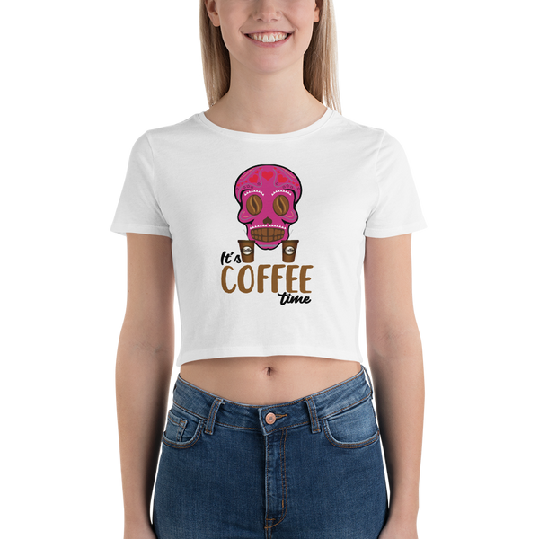 Its Coffee Time060 Women's Crop Tee