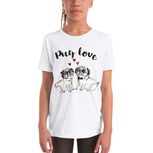 Pug Luv01 Youth Short Sleeve T-Shirt