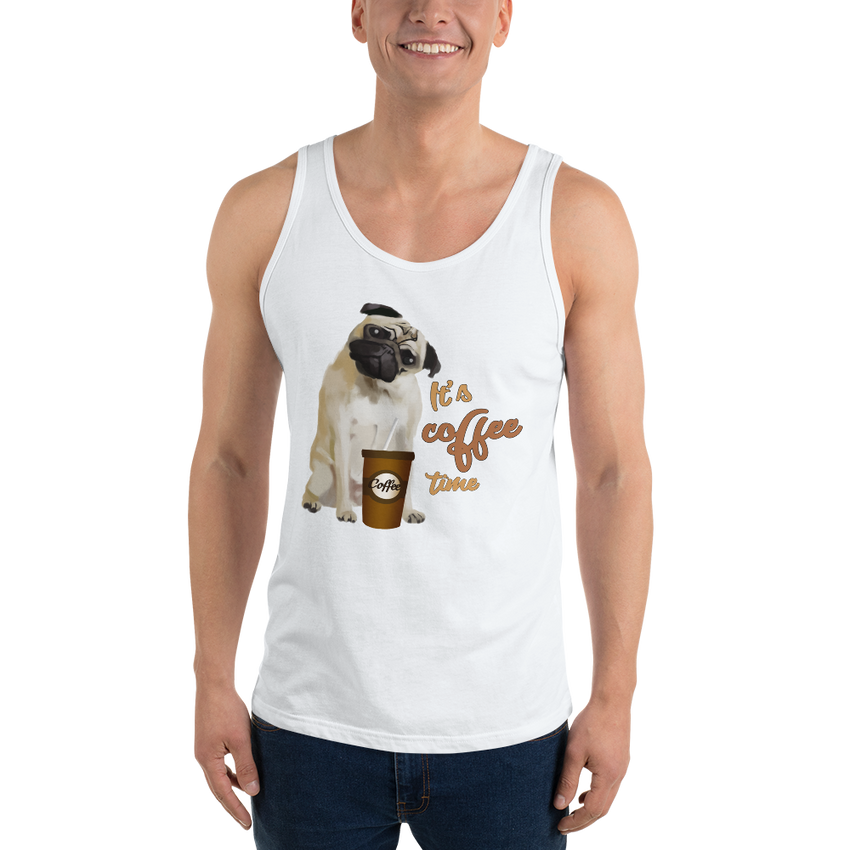 It's Coffee Time023 Bella + Canvas 3480 Unisex Jersey Tank with Tear Away Label