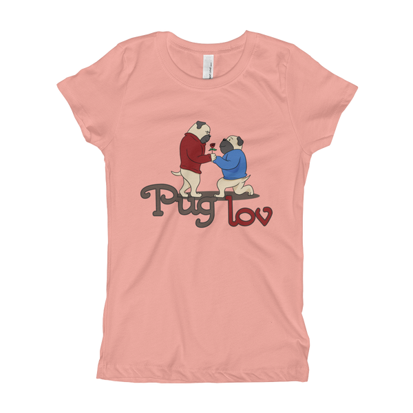 Pug Luv04 Girl's T-Shirt
