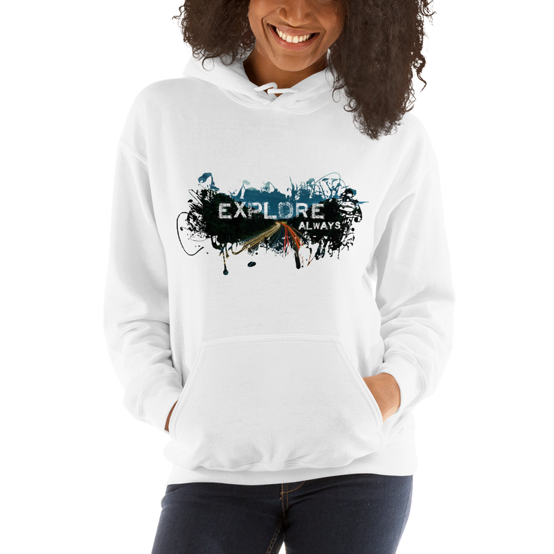Explore The World007 Gildan 18500 Unisex Heavy Blend Hooded Sweatshirt