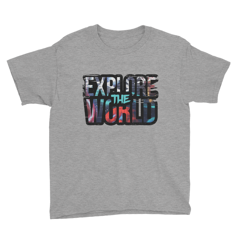 Explore The World0022 Anvil 990B Youth Lightweight Fashion T-Shirt with Tear Away Label