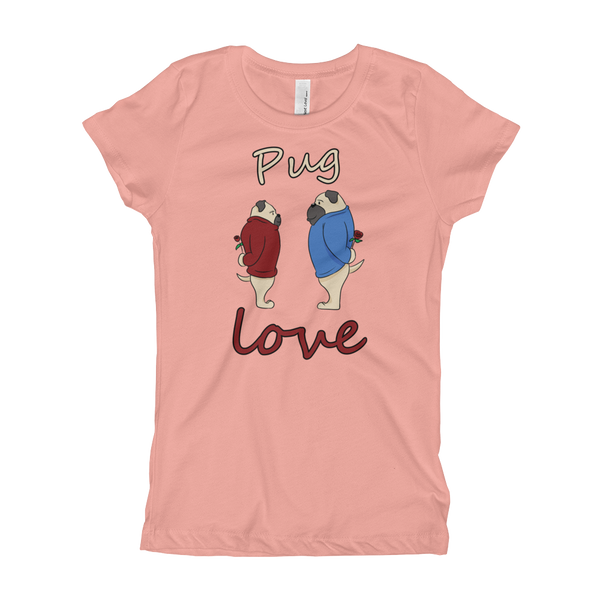 Pug Luv08 Girl's T-Shirt