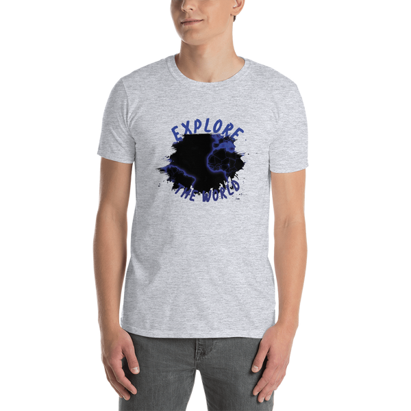 Explore The world0010 Gildan 64000 Unisex Softstyle T-Shirt with Tear Away Label