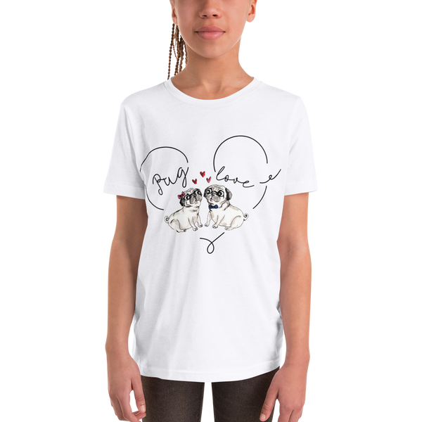 Pug Luv03 Youth Short Sleeve T-Shirt