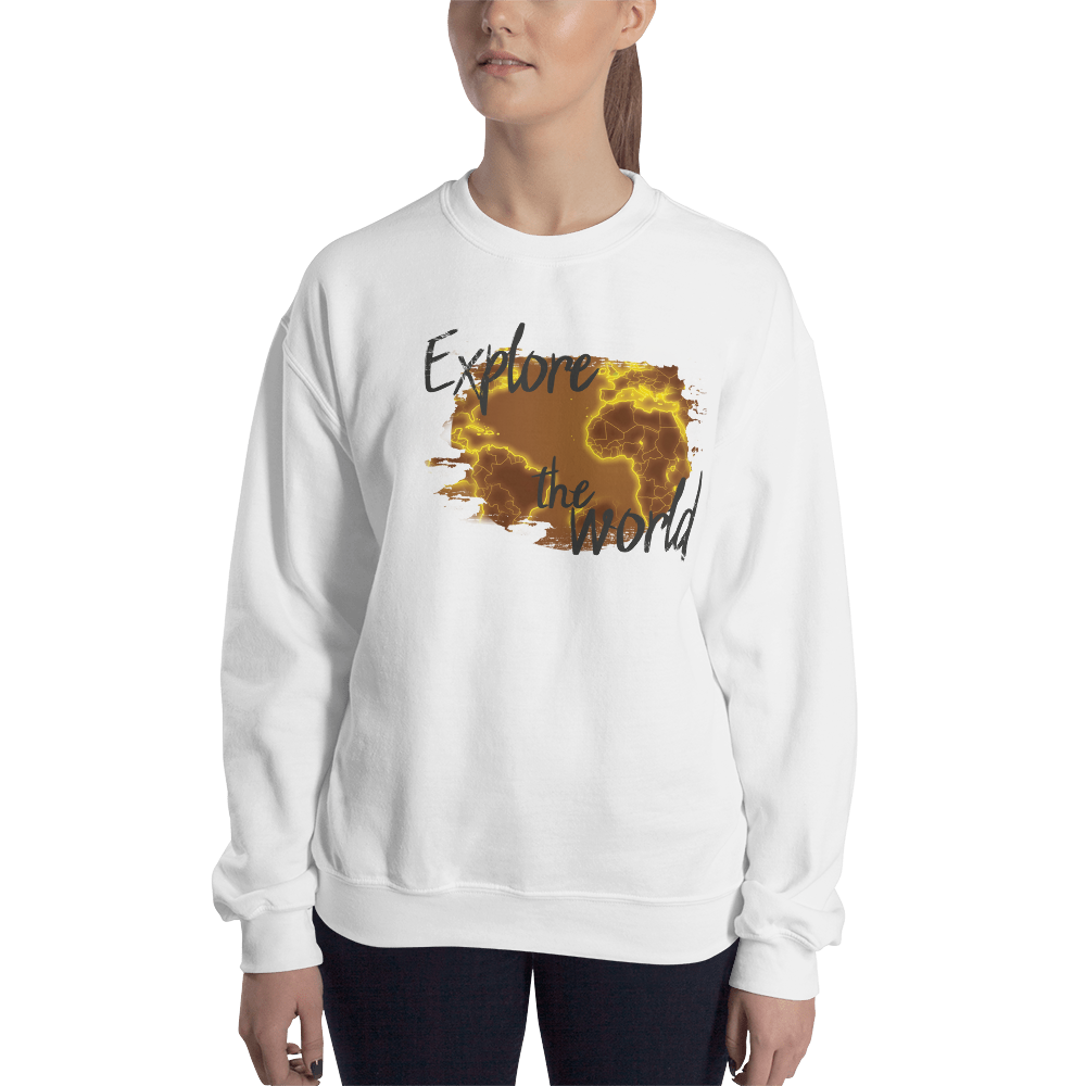 Explore The World0018 Gildan 18000 Unisex Heavy Blend Crewneck Sweatshirt