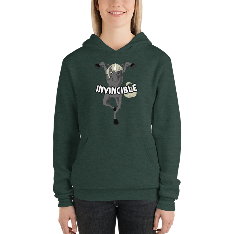 Invincible009 Bella + Canvas 3719 Unisex Fleece Pullover Hoodie