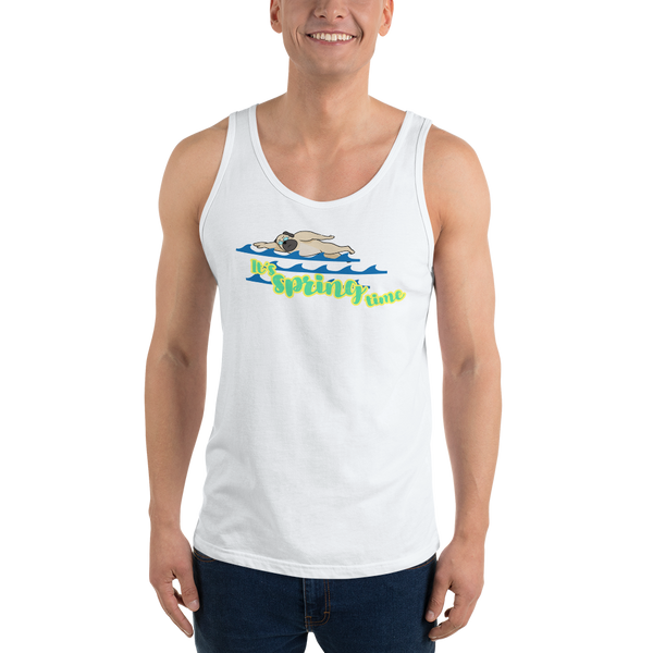 It's Swimming Time01 Bella + Canvas 3480 Unisex Jersey Tank with Tear Away Label