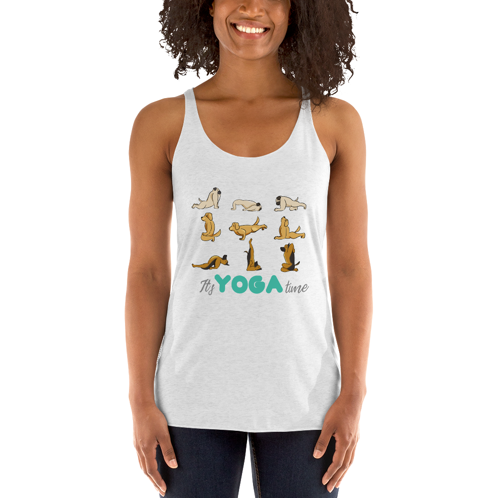 It's Yoga Time027 Next Level 6733 Ladies' Triblend Racerback Tank