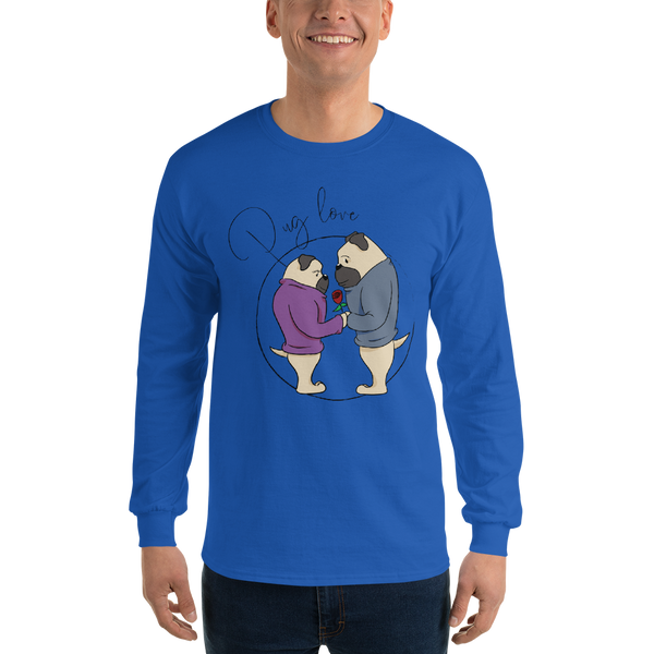 Pug Love09 Gildan 2400 Ultra Cotton Long Sleeve T-Shirt
