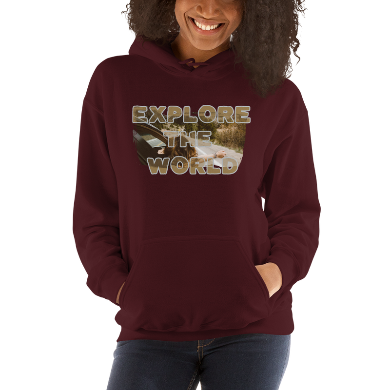 Explore The World009 Gildan 18500 Unisex Heavy Blend Hooded Sweatshirt