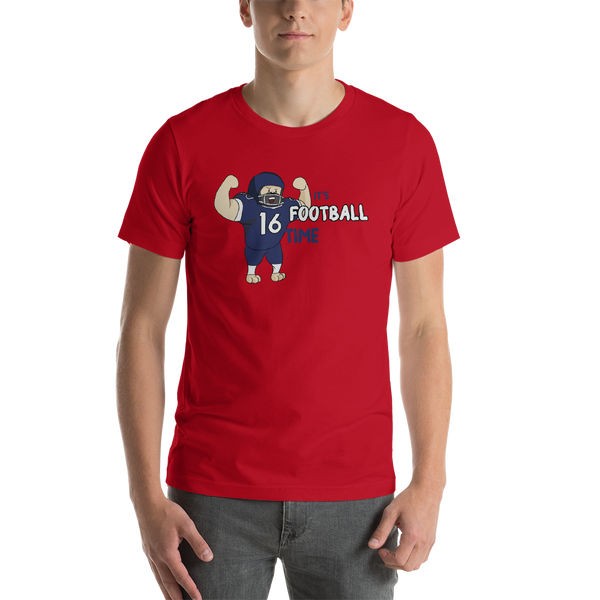 It's Football Time05 Bella + canvas 3001 unisex  Jersey Style