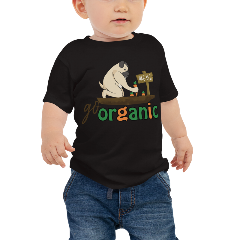 Go Organic001 Bella + Canvas 3001B Baby Jersey Short Sleeve Tee with Tear Away Label