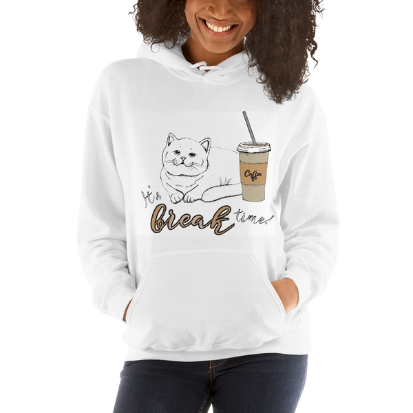 It's Break Time004 Gildan 18500 Unisex Heavy Blend Hooded Sweatshirt