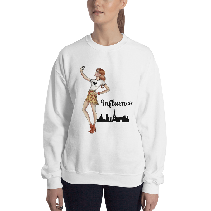 Influencer007 Gildan 18000 Unisex Heavy Blend Crewneck Sweatshirt
