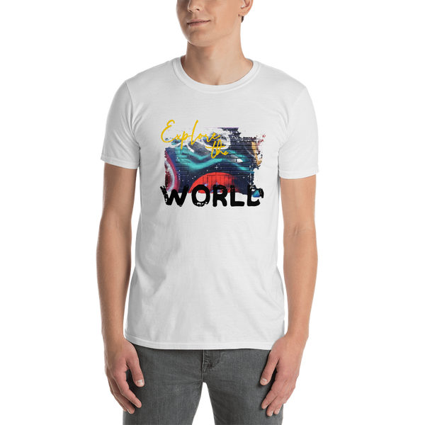 Explore The World0018 Gildan 64000 Unisex Softstyle T-Shirt with Tear Away Label