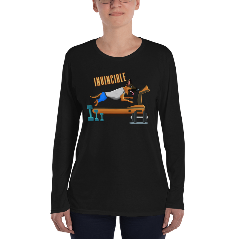 Invincible011 Anvil 884L Women's Lightweight Long Sleeve Tee with Tear Away Label