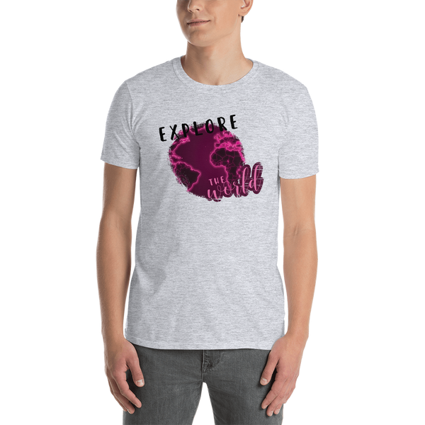 Explore The World0026 Gildan 64000 Unisex Softstyle T-Shirt with Tear Away Label