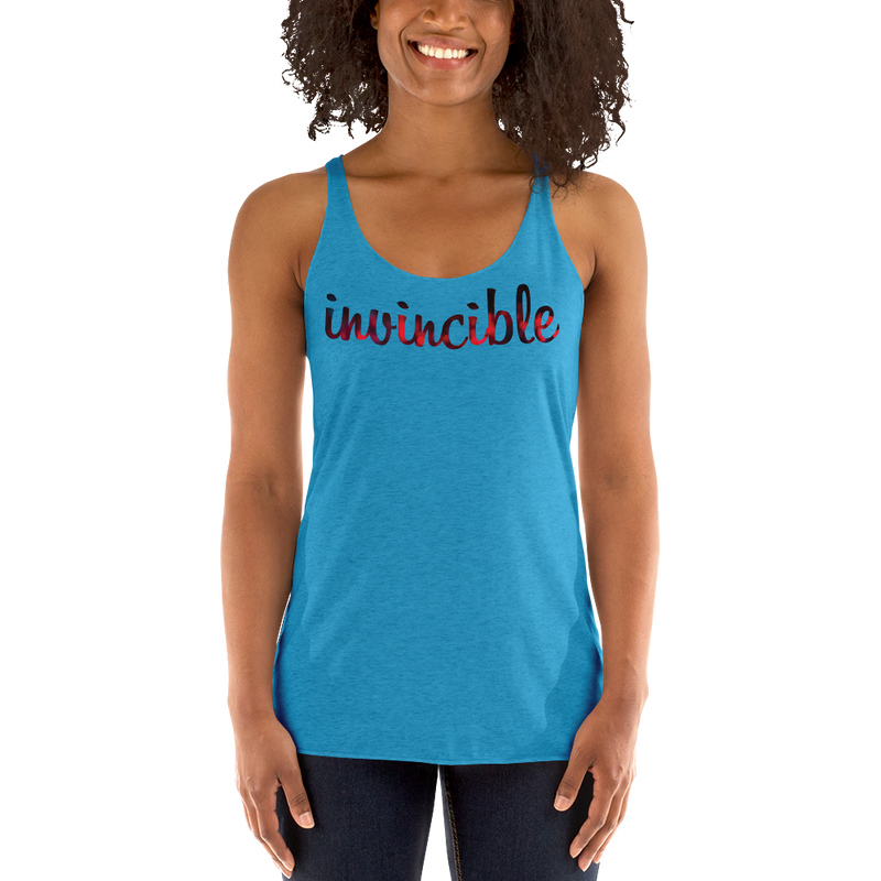 Invincible018 Next Level 6733 Ladies' Triblend Racerback Tank