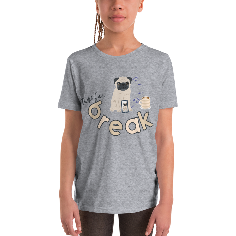 It's Break Time005 Bella + Canvas 3001Y Youth Short Sleeve Tee with Tear Away Label