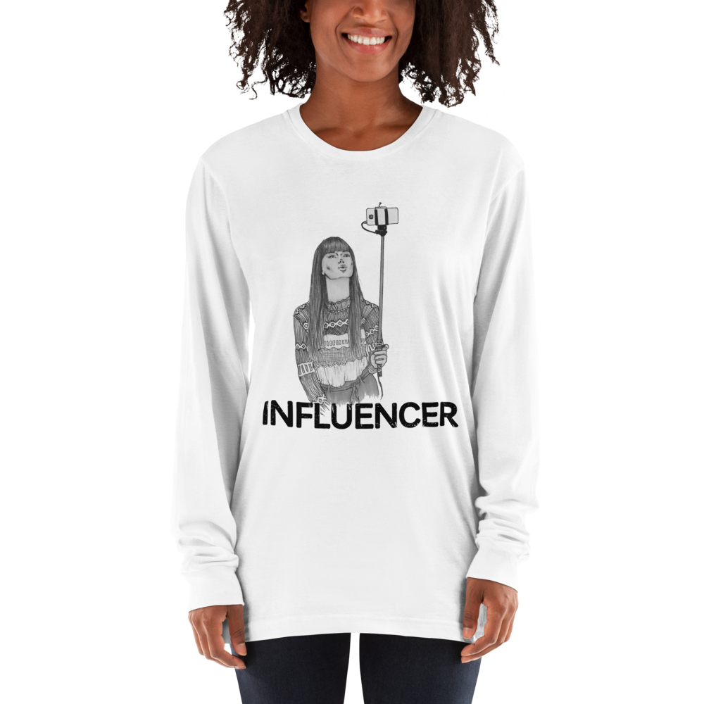 Influencer90 American Apparel 2007 Unisex Fine Jersey Long Sleeve T-Shirt Comfy style