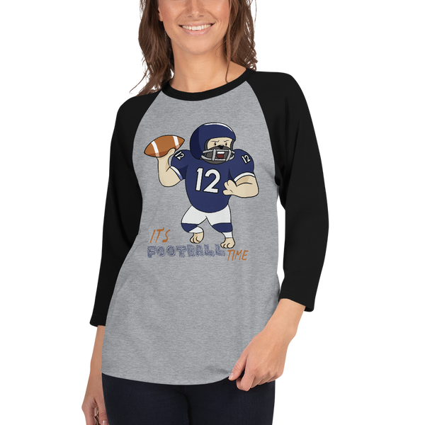 It's Football Time08 Tultex 245 Unisex Fine Jersey Raglan Tee w/ Tear Away Label