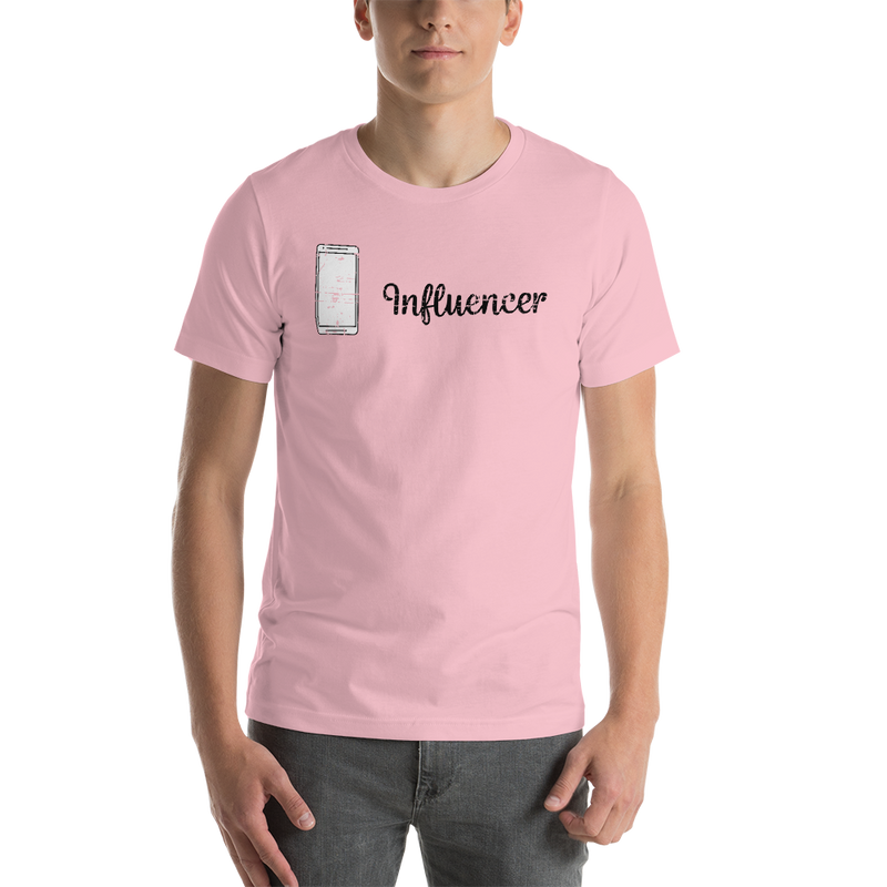 Influencer00158 Bella + Canvas 3001 Unisex Short Sleeve Jersey T-Shirt with Tear Away Label