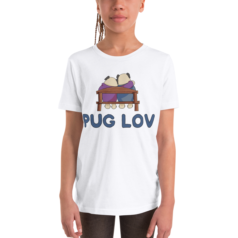 Pug Luv12 Youth Short Sleeve T-Shirt